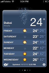 Dubai weather!