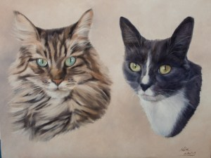 'Mackie and Bluey' oil on canvas - 2015 Private Commission