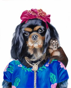 Frida, the Cavalier Spaniel. oil on canvas by Australian artist Mia Laing