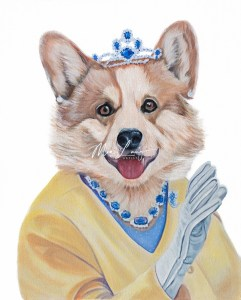 The Royal Corgi, oil on canvas, 2018