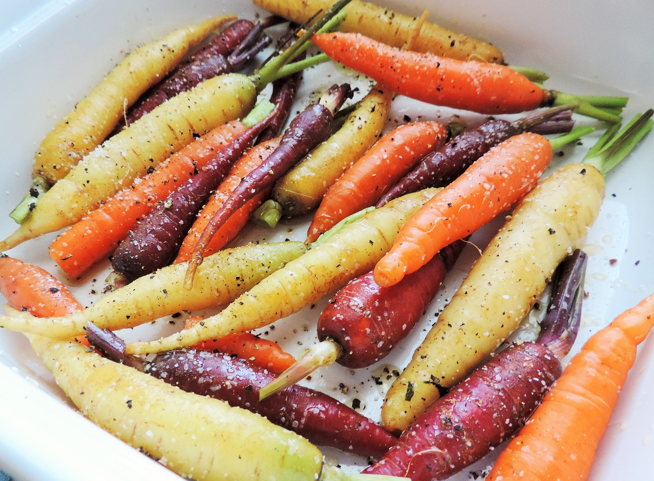 Tri Colored Roasted Carrots