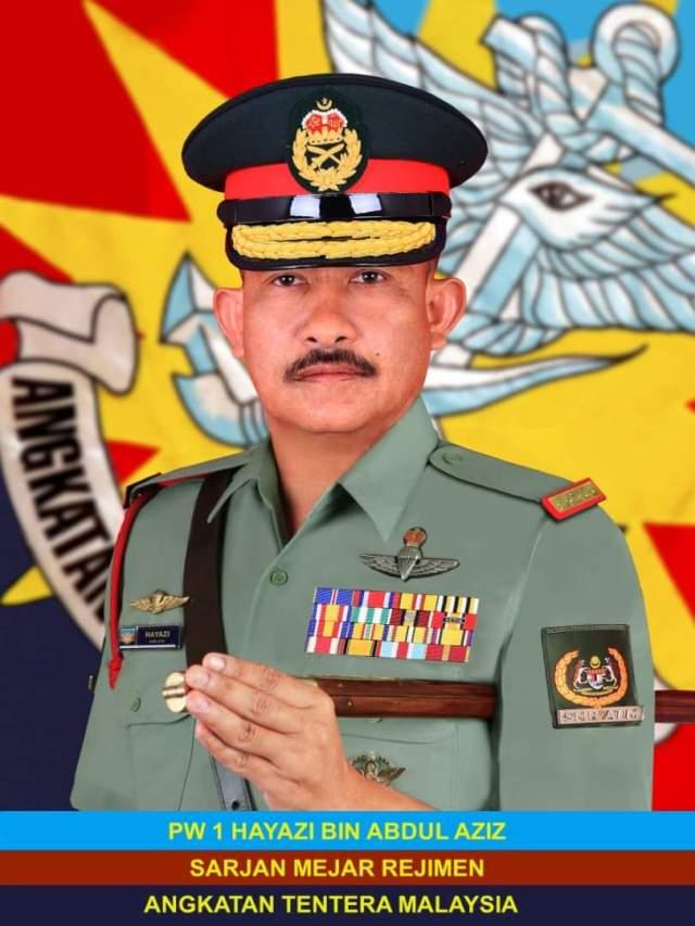 First Warrant Officer Hayazi bin Abdul Aziz - Regimental Sergeant Major, Malaysian Armed Forces
