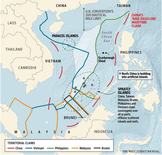 Territorial claims over South China Sea