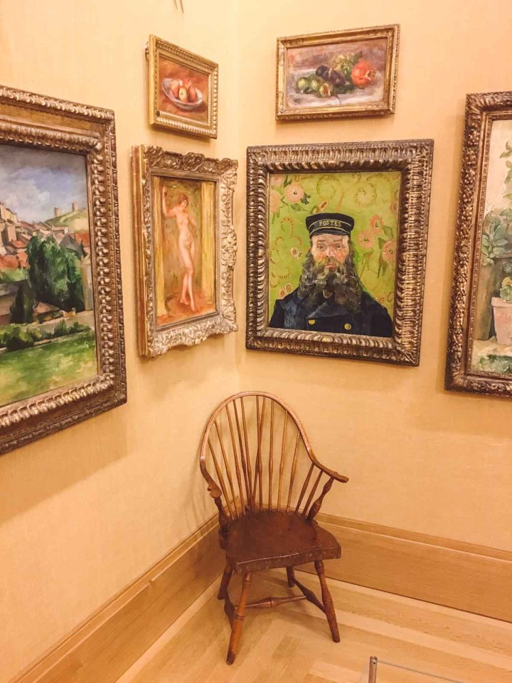 paintings hanging in the Barnes Foundation