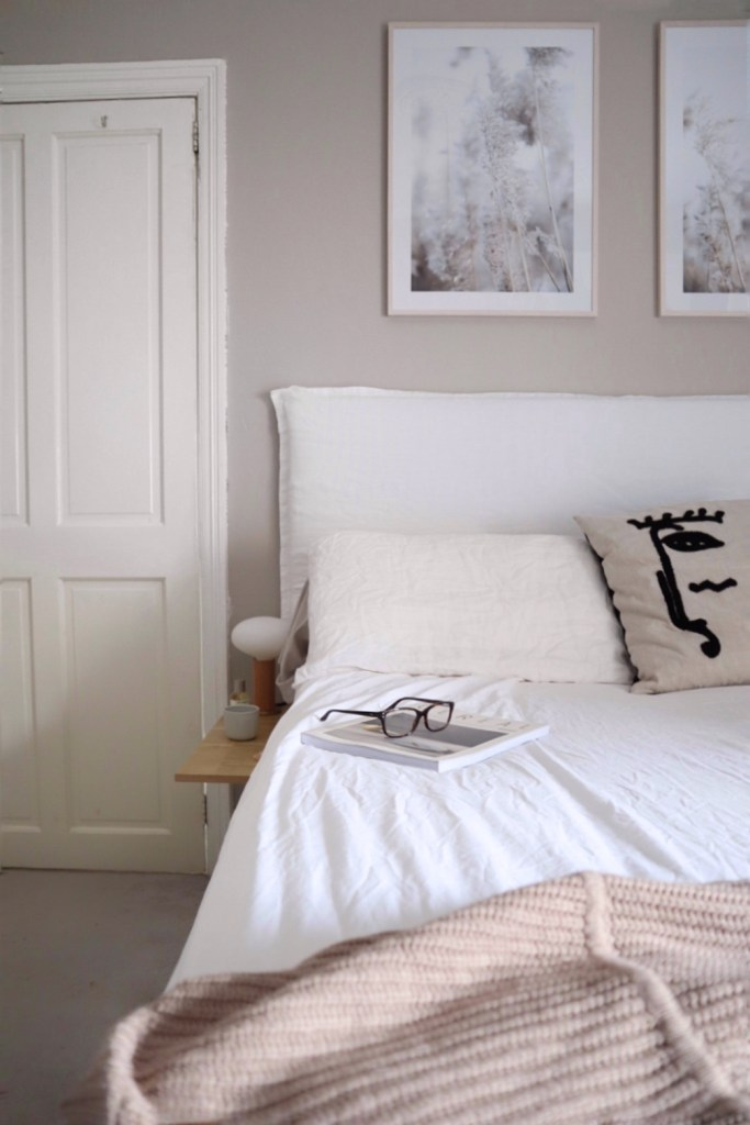 simple linen headboard diy blogger interior white bedroom minimalist nordic desenio house doctor