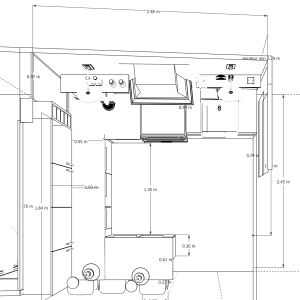 kitchen Design Plan mmh Bespoke layout