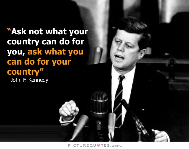 Image result for jfk quote ask not what your country meaning