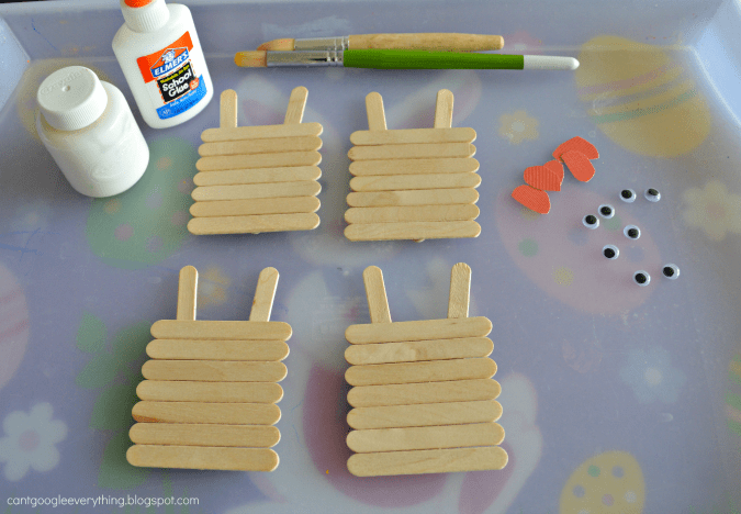 Popsicle Stick Easter Bunnies Craft My Mini Adventurer