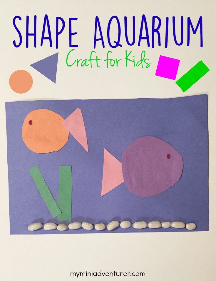 Shape Aquarium a great craft for preschoolers