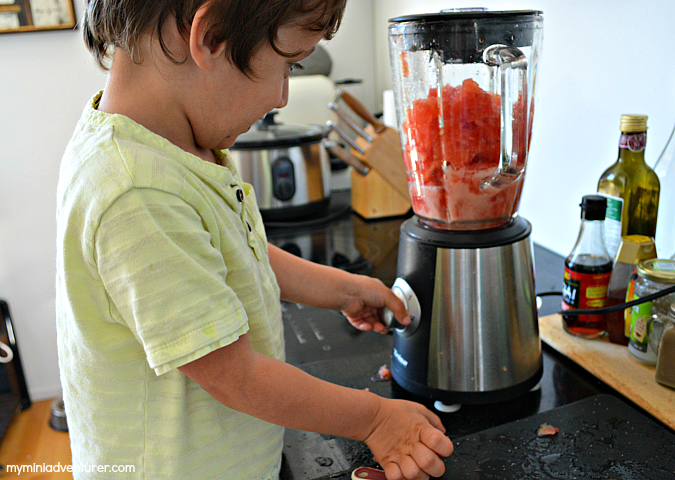 watermelon juice blending
