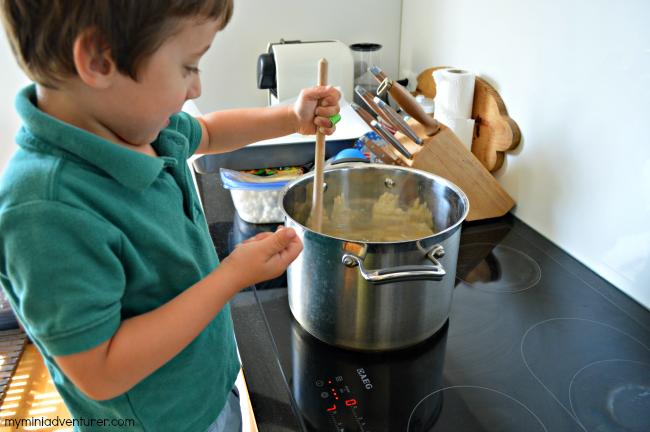 rice krispies stirring