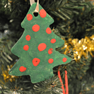 Salt Dough Christmas Trees