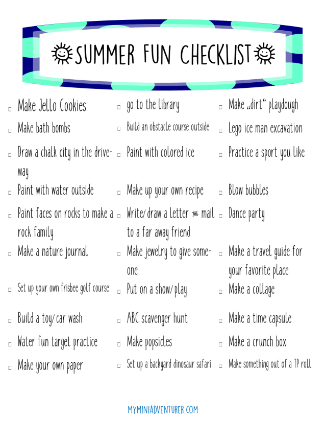 Summer Fun Checklist pic