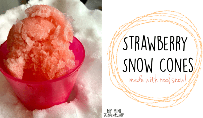 Real Snow Strawberry Snow Cones