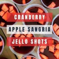 Cranberry Apple Sangria Jello Shots