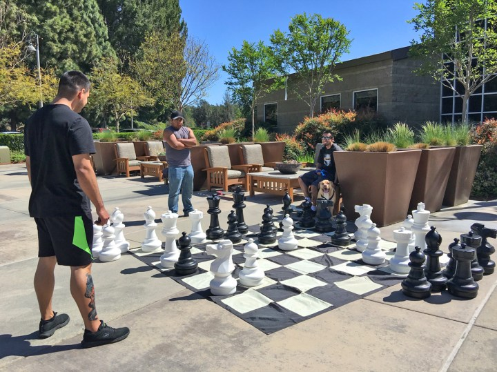 Playing Chess at Norman P. Murray Center Mission Viejo Community for all to enjoy