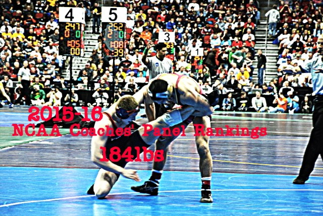 NCAA Wrestling: Coaches' Panel Wrestling Rankings Released – 184lbs Weight Class