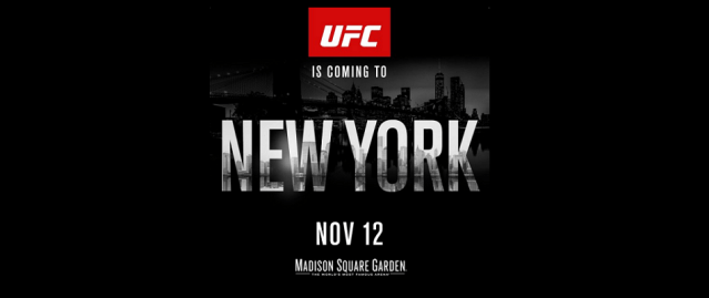 New York Governor Signs MMA Bill – First UFC event in November