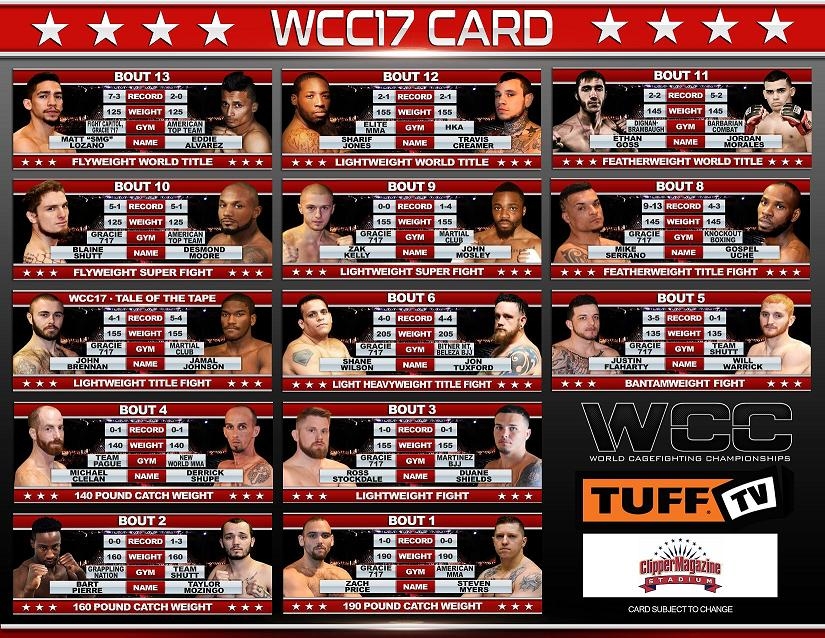 WCC17 BOUT SHEET