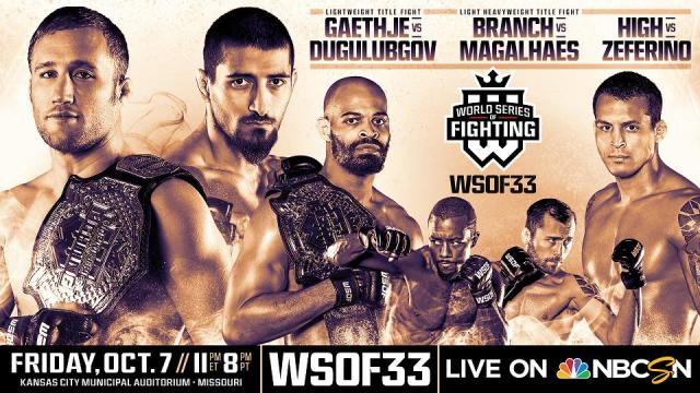 WSOF 33 Main Card Complete with Six Fights in Kansas City on October 7