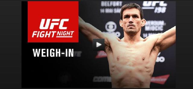 WATCH:  UFC on FOX 21 – Condit vs Maia – Weigh-ins – 7pm EST