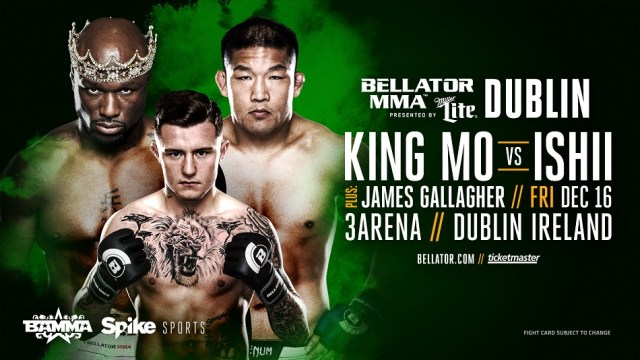 EIRE! Bellator MMA is Heading to Dublin, Ireland on Dec. 16