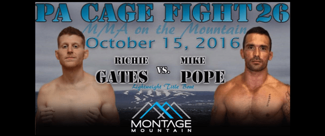 Richie Gates talks MMA on the Mountain title fight - PA Cage Fight 26