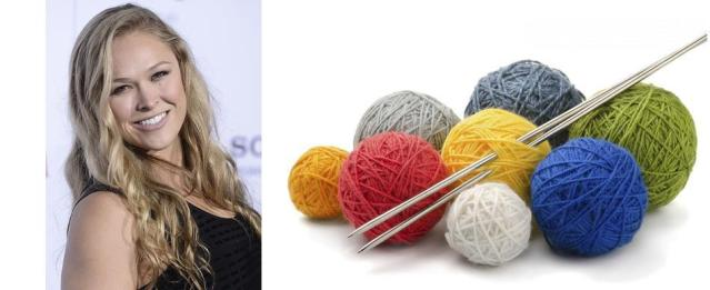 Ronda Rousey starts knitting club with 2 Broke Girls star Kat Dennings