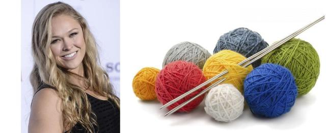 Ronda Rousey joins knitting club with 2 Broke Girls Star Kat Dennings