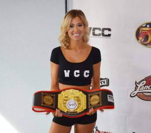 WCC Ring Card Girl Nikki Cole