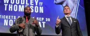 Stephen Wonderboy Thompson and Tyron Woodley - Photo courtesy ESPN