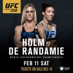 UFC introduces women's 145 lb. belt, Holly Holm vs Germaine de Randamie