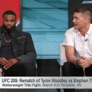 Tyron Woodley, Wonderboy Thompson at each other's throats on ESPN