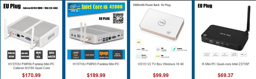 BEELINK BT3 Intel MINI PC NUC, VOYO V3 Mini PC, Beelink Z83 TV Box Intel Atom X5-Z8300 Quad Core, Onda M3 Mini PCセール参考画像