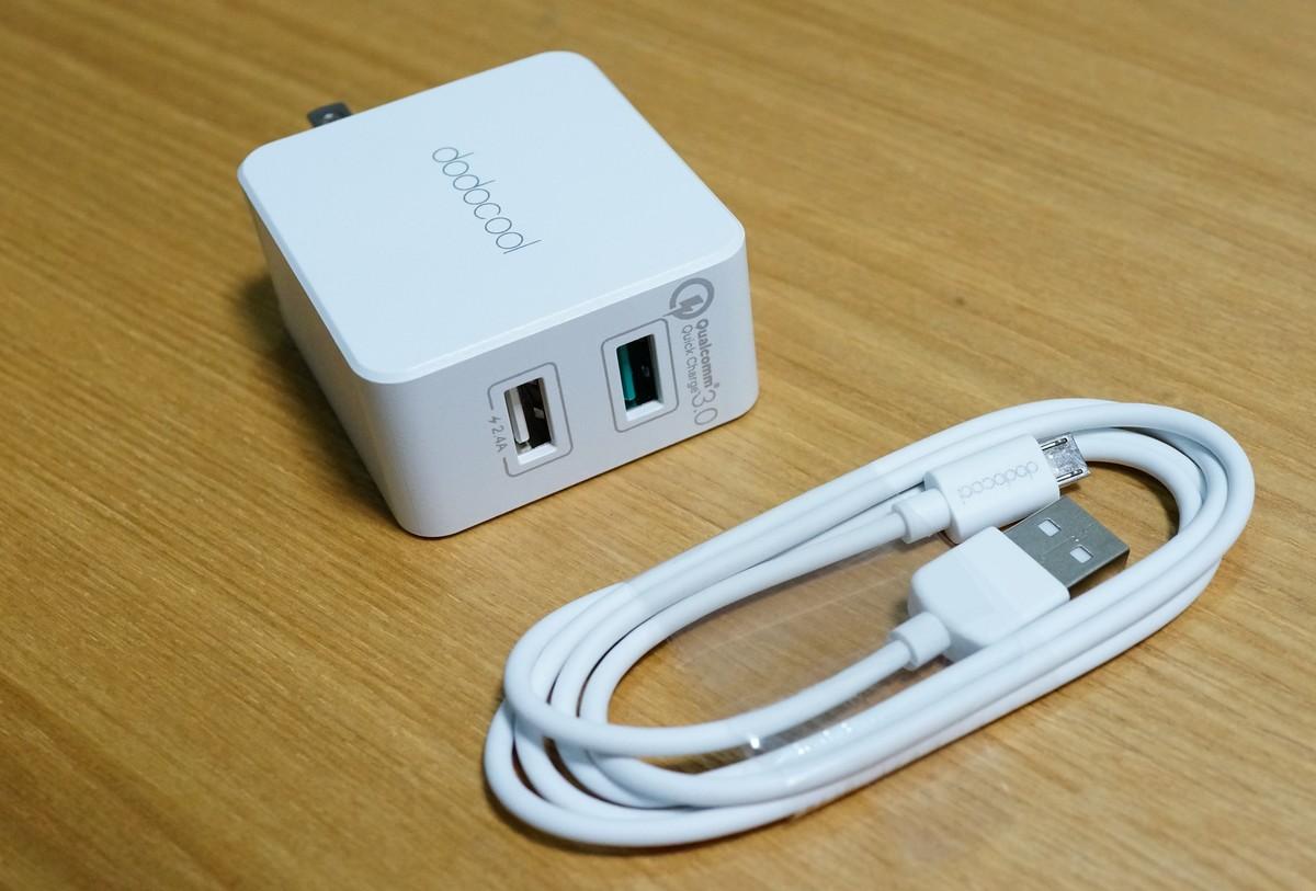 dodocool 急速充電Quick Charge 3.0対応 2ポートUSB充電器