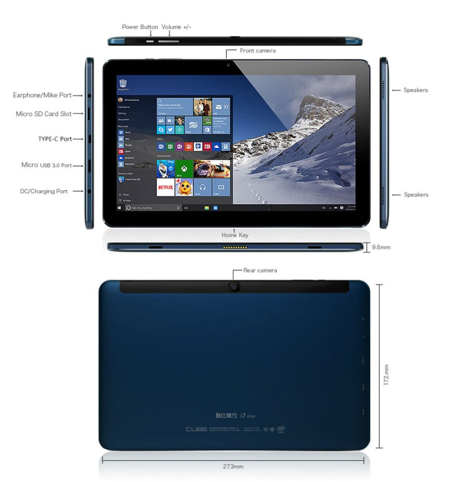 Cube i7 Book 2 in 1 Tablet PC レビュー