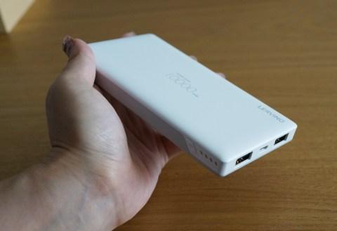 大容量10000mAh!LERVINGの2台同時に充電できるUSBポート2つのモバイルバッテリー