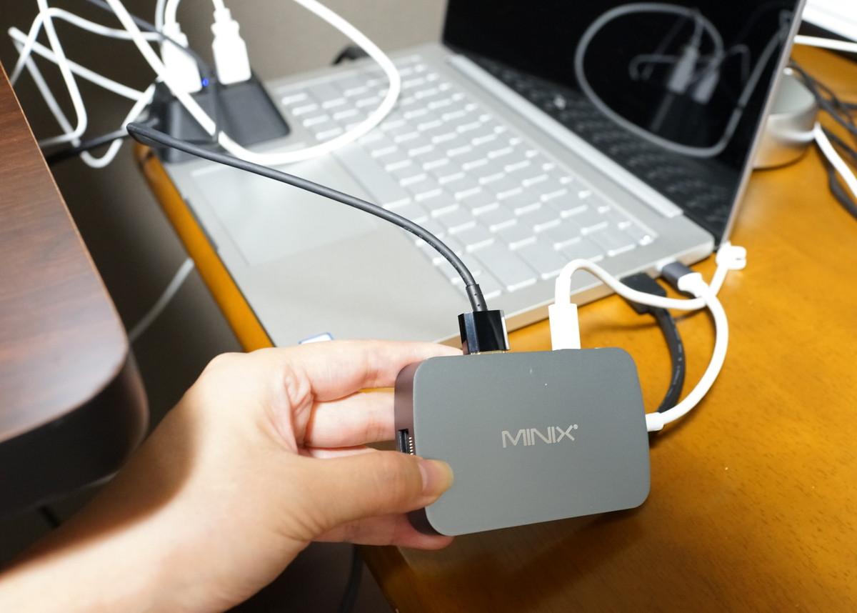 TYPE-CをHDMIに変換する MINIX NEO マルチアダプター Xiaomi Mi Notebook Air対応