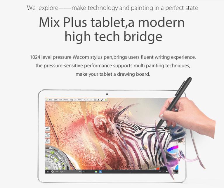 Cube Mix Plus 10.6インチCore M3-7Y30のSSDタブレットPC