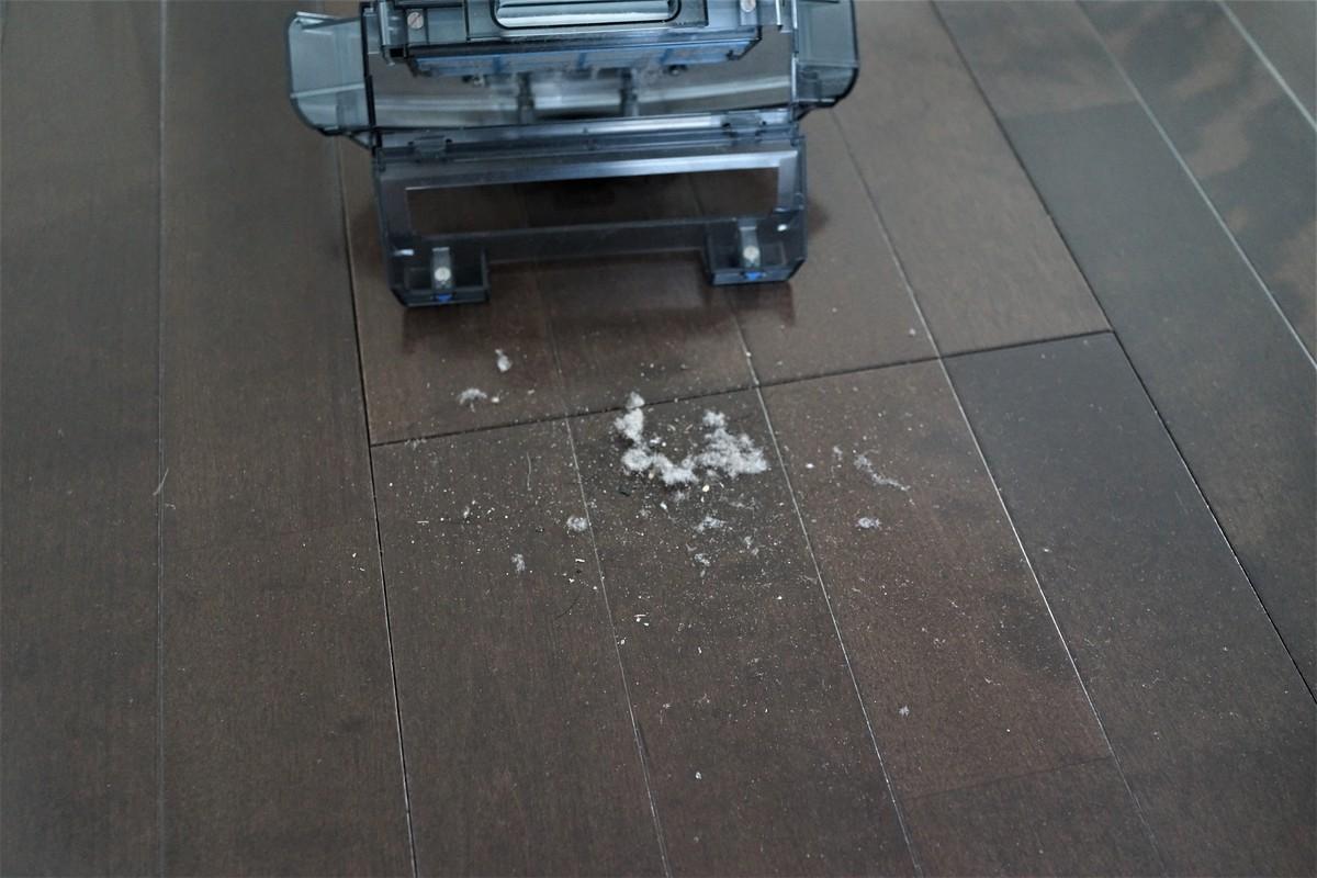 ILIFE A6 Smart Robotic Vacuum Cleaner の実機レビュー ゴミがどのぐらいとれるか参考画像