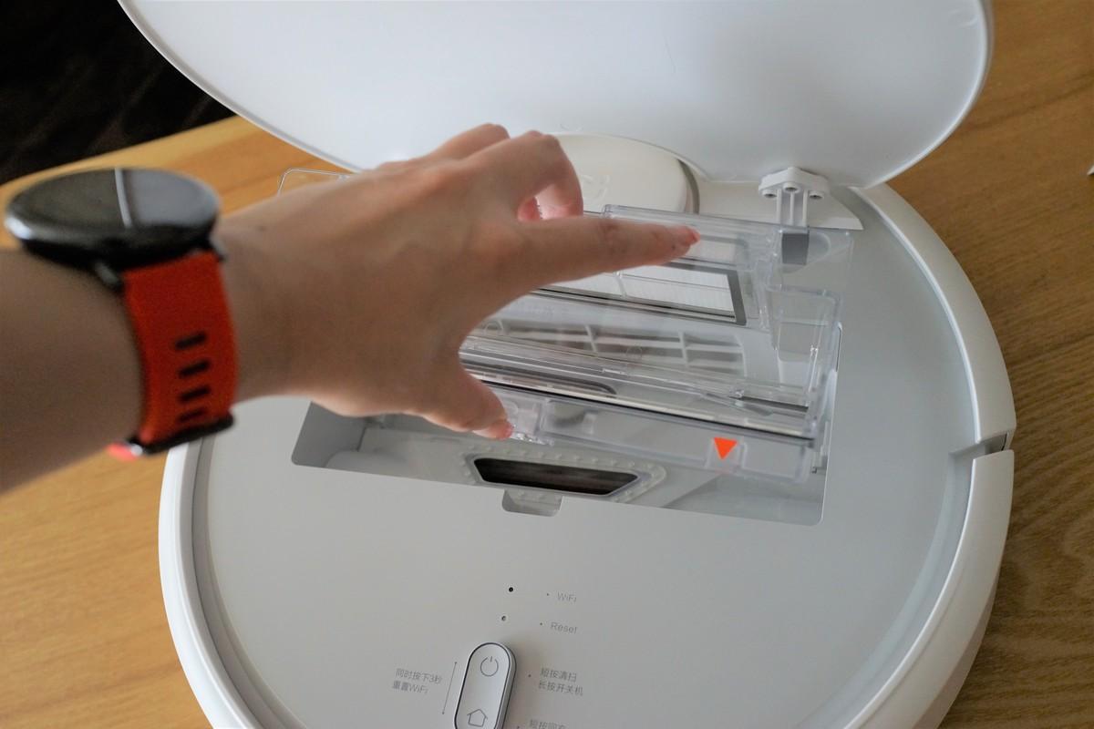 Original Xiaomi Mi Robot Vacuum レビュー ダストボックスの説明参考画像
