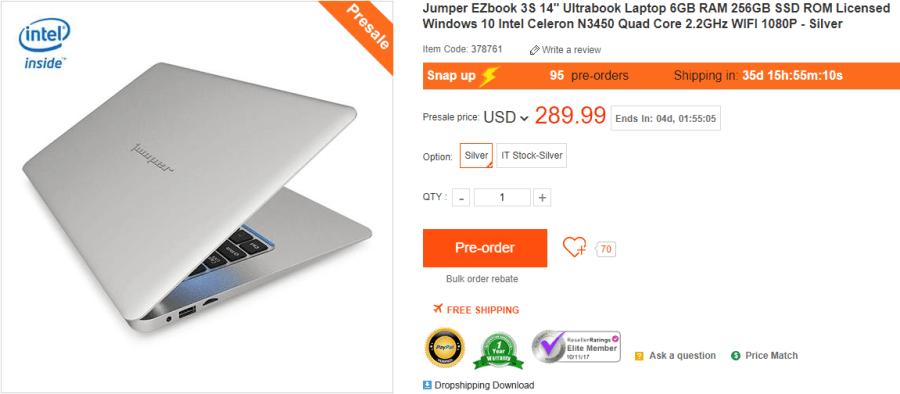 Jumper EZbook 3S 日本からの購入最安値