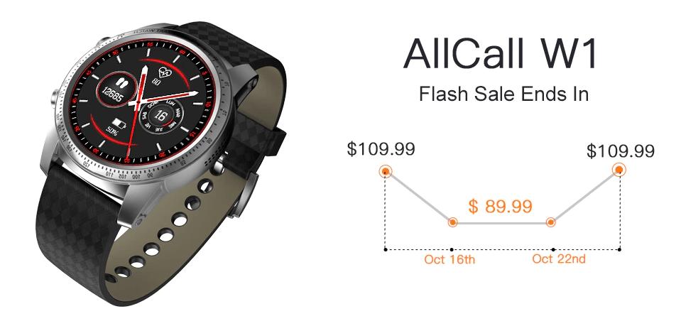 AllCall W1 3G Smartwatch PhoneがGearBestでフラッシュセール開始