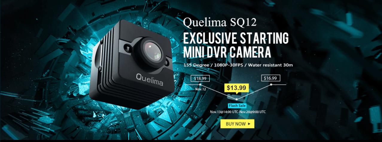GearBestで指でつまめるサイズのドライブレコーダー Quelima SQ12 Mini 1080P FHD DVR が独占販売中!