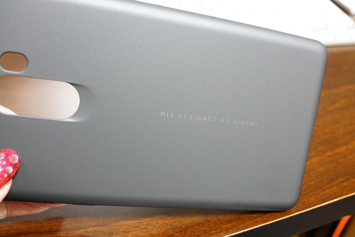 Xiaomi mi mix 2 レビュー 付属のハードケースの質感の説明参考画像