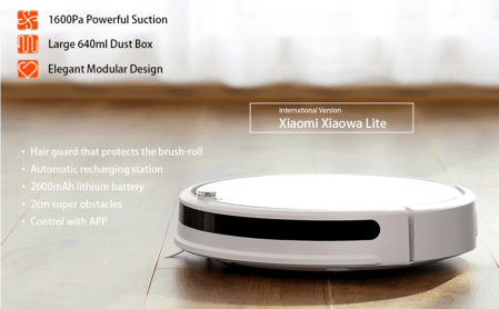 1600Paの吸引力強めのロボット掃除機Xiaomi Roborock Xiaowa Lite Vacuum Cleanerが$149.99でセール中