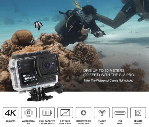 4K/60FPSが撮影できるSJCAM SJ8 PRO Action Cameraが$168でセール中