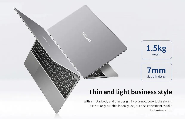 Teclast F7 Plus  Intel Gemini Lake N4100搭載14インチSSDノートPCが$329.99!
