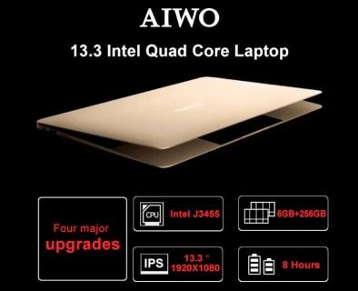 【クーポンで$264.99/20台限定】AIWO i8 Intel Apollo Lake J3455搭載の13.3インチコスパ良好なノートPC