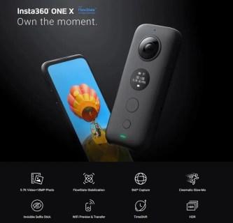 【セール価格$349.99】Insta360 ONE X FlowStateで驚異の手振れ補正を可能にしたアクションカメラ